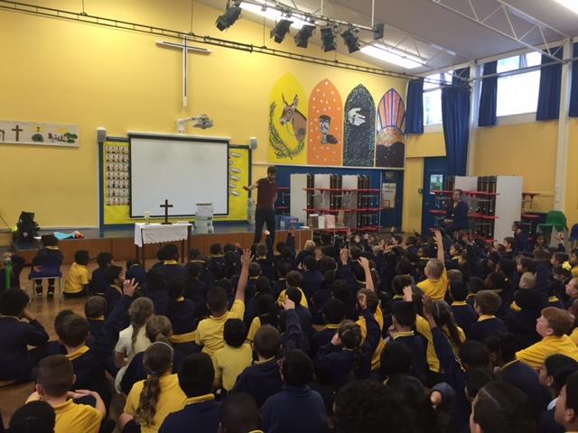 crossteach London - school assembly